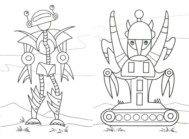 Иллюстрация 1 из 9 для Раскраска: Звери-роботы | Лабиринт - книги. Источник: Лабиринт