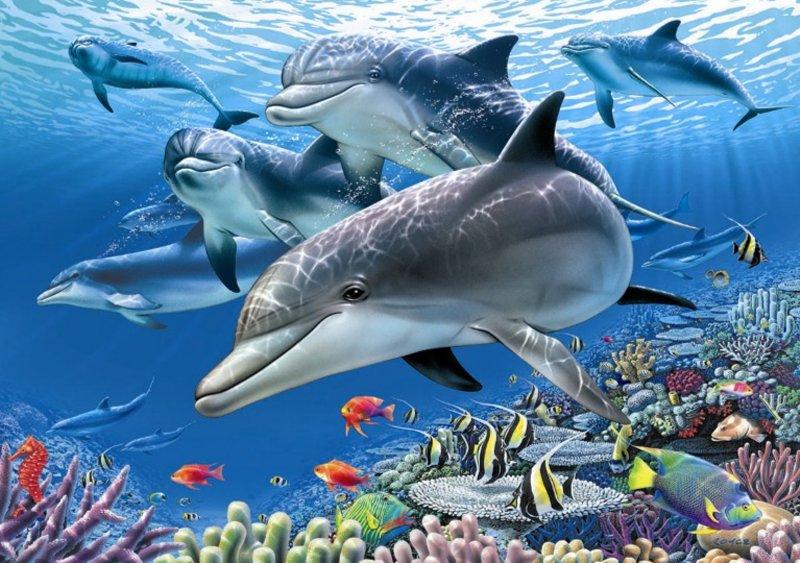 Иллюстрация 1 из 5 для Пазл-1500  Подводный рай (11750) | Лабиринт - игрушки. Источник: Лабиринт