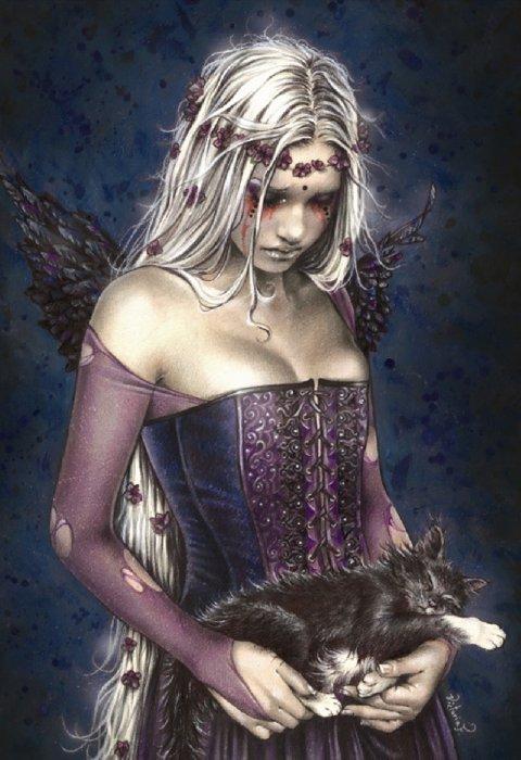 """Иллюстрация 1 из 6 для Пазл-1000 готика """"Темный Ангел"""" (13454)   Лабиринт - игрушки. Источник: Лабиринт"""