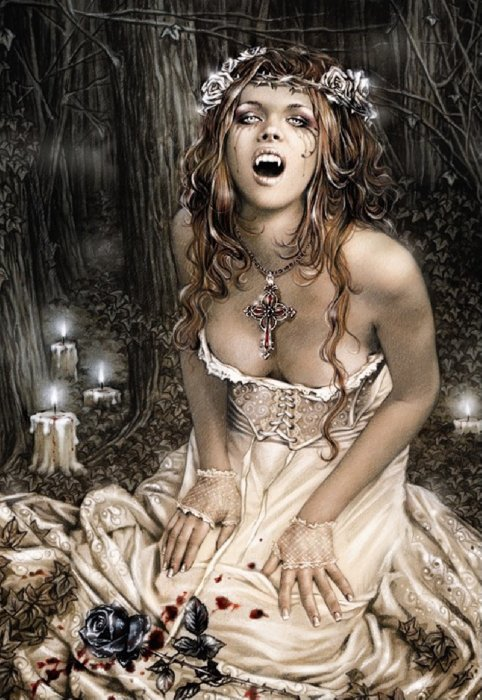 "Иллюстрация 1 из 5 для Пазл-1500 готика ""Девушка-вампир"" (13800) | Лабиринт - игрушки. Источник: Лабиринт"