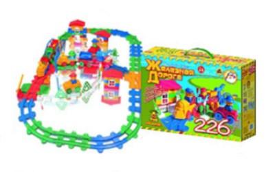Иллюстрация 1 из 24 для Железная дорога 226 элементов 8/8 (041) | Лабиринт - игрушки. Источник: Лабиринт