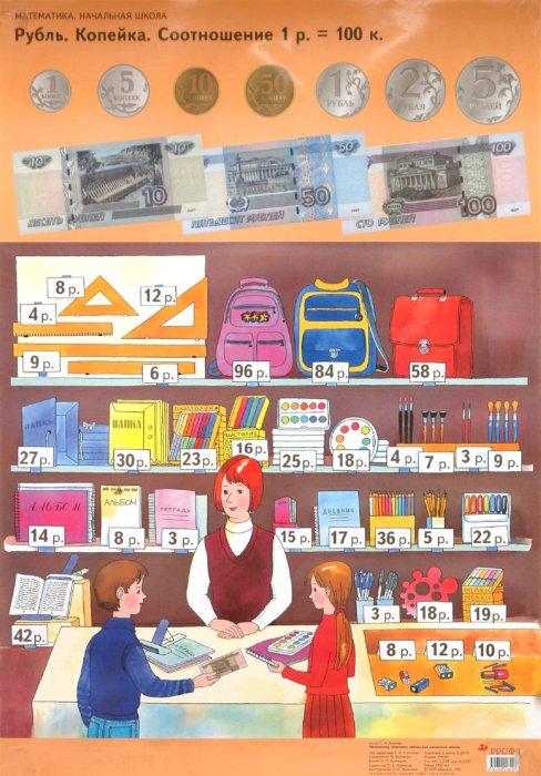 Иллюстрация 1 из 2 для Математика. Комплект таблиц для начальной школы. Рубль. Копейка. Задачи, обратные данной - Светлана Волкова | Лабиринт - книги. Источник: Лабиринт