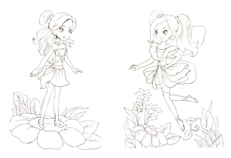 Иллюстрация 1 из 8 для Раскраска для девочек. Выпуск 1 | Лабиринт - книги. Источник: Лабиринт