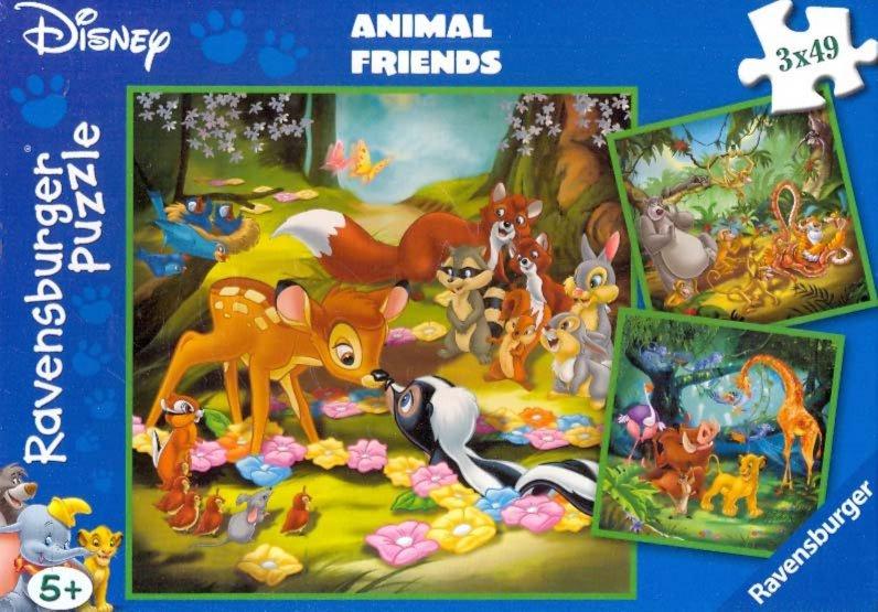 "Иллюстрация 1 из 4 для Пазл 3х49 ""Бэмби, Балу и Симба"" (093656) | Лабиринт - игрушки. Источник: Лабиринт"