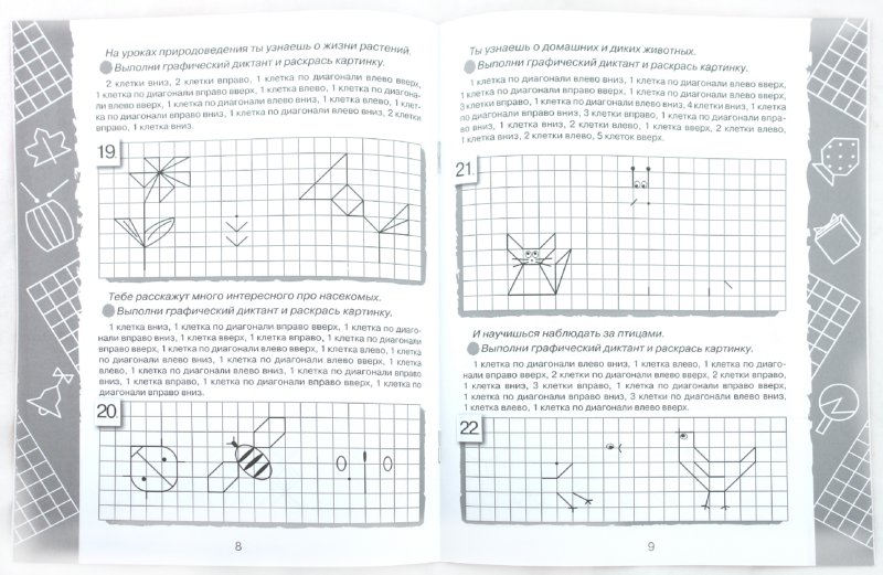 Иллюстрация 1 из 9 для Дружок: Графические диктанты. Для будущих первоклассников | Лабиринт - книги. Источник: Лабиринт