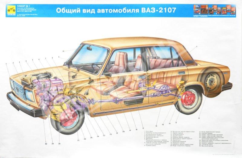 Иллюстрация 1 из 20 для Устройство автомобилей ВАЗ-2107, ВАЗ-2108 (комплект из 20 плакатов) | Лабиринт - книги. Источник: Лабиринт