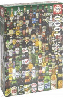 Пазл-1000 Коллекция бутылок пива (12736) educa пазл пекарня