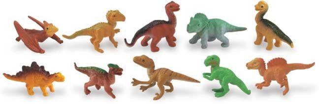 Иллюстрация 1 из 8 для Детеныши динозавров, 10 фигурок (680104) | Лабиринт - игрушки. Источник: Лабиринт