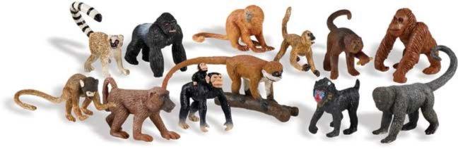 Иллюстрация 1 из 11 для Обезьяны, 12 фигурок (680604) | Лабиринт - игрушки. Источник: Лабиринт