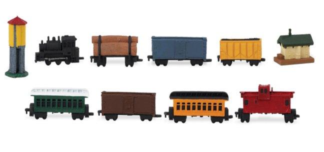 Иллюстрация 1 из 5 для Ж/д состав, 11 фигурок (687504) | Лабиринт - игрушки. Источник: Лабиринт