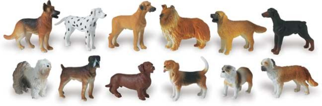 Иллюстрация 1 из 8 для Собаки, 12 фигурок (695504)   Лабиринт - игрушки. Источник: Лабиринт