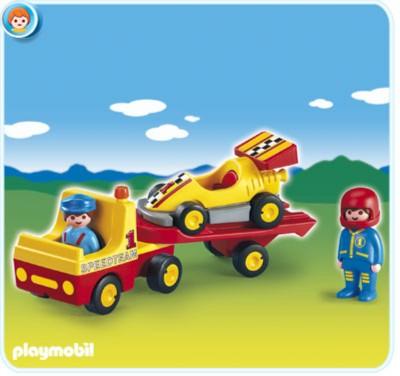Иллюстрация 1 из 2 для Автовоз с гоночной машиной (6761)   Лабиринт - игрушки. Источник: Лабиринт