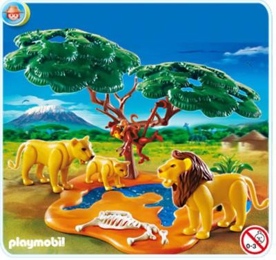 Иллюстрация 1 из 6 для Стая львов с обезьянками (4830) | Лабиринт - игрушки. Источник: Лабиринт