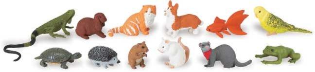 Иллюстрация 1 из 13 для Домашние животные, 12 фигурок (681504) | Лабиринт - игрушки. Источник: Лабиринт