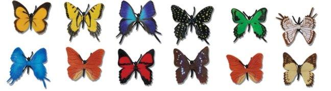 Иллюстрация 1 из 3 для Бабочки, 12 фигурок (700604) | Лабиринт - игрушки. Источник: Лабиринт