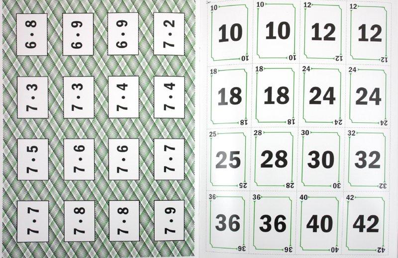 Иллюстрация 1 из 8 для Карты и карточки для изучения таблицы умножения - Кулешов, Шклярова   Лабиринт - книги. Источник: Лабиринт