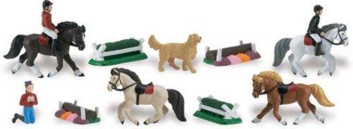 Иллюстрация 1 из 2 для Пони дерби, 10 фигурок (682104) | Лабиринт - игрушки. Источник: Лабиринт