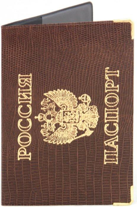 Иллюстрация 1 из 3 для Обложка для паспорта, импортное ПВХ, с уголками (ОД2-03) | Лабиринт - канцтовы. Источник: Лабиринт