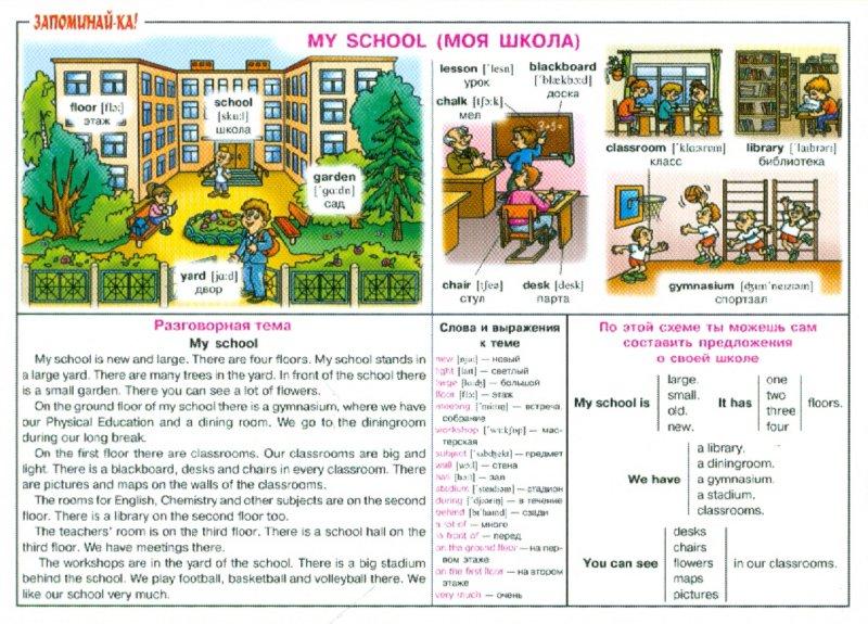 Иллюстрация 1 из 35 для Английский. Моя школа. Для учащихся 2-5 классов. Плакат | Лабиринт - книги. Источник: Лабиринт