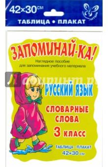 Русский язык. Словарные слова. 3 класс
