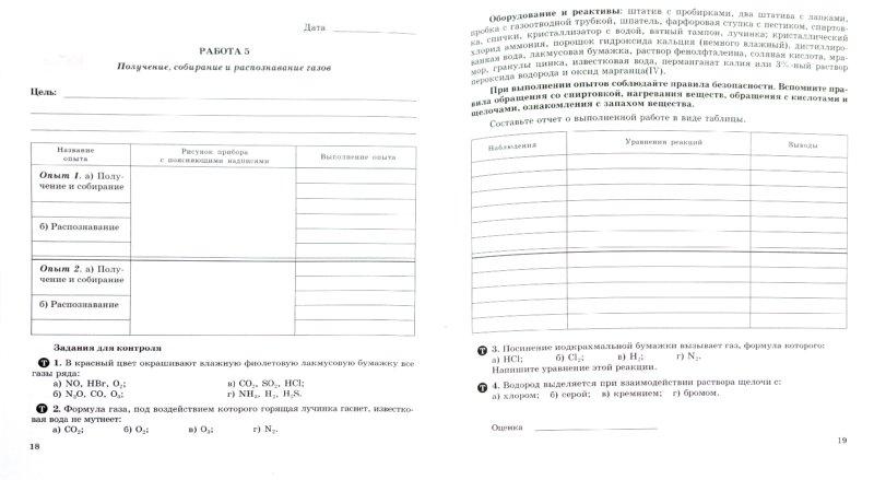 Новошинский химия 10 класс практические работы
