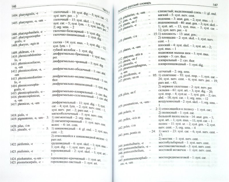 Иллюстрация 1 из 4 для Латинско-русский и русско-латинский словарь наиболее употребительных анатомических терминов - Лидия Бахрушина | Лабиринт - книги. Источник: Лабиринт