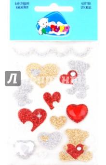 "Наклейки детские ""Мишки с сердцами"" (JGS003) от Лабиринт"