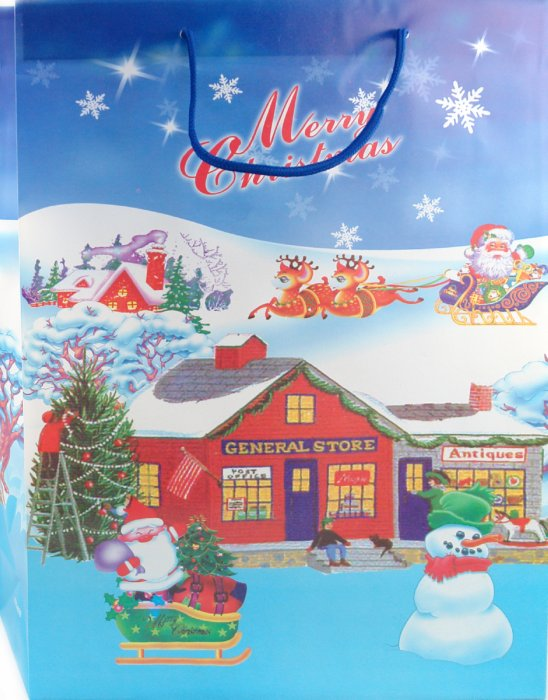 Иллюстрация 1 из 4 для Пакет новогодний пластиковый 40x32x10 (LY070705-1) | Лабиринт - сувениры. Источник: Лабиринт
