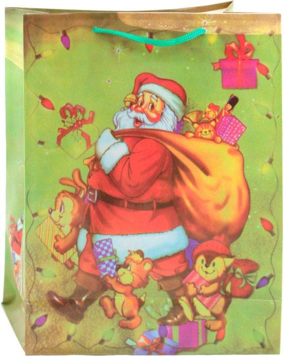 Иллюстрация 1 из 3 для Пакет новогодний пластиковый 24x18x7,5 (LY070708-5) | Лабиринт - сувениры. Источник: Лабиринт