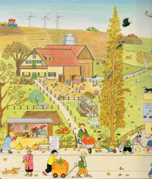 Иллюстрация 1 из 13 для Осенняя книга - Ротраут Бернер | Лабиринт - книги. Источник: Лабиринт