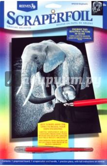 """Гравюра серебряная """"Слон"""" (PPSF30) от Лабиринт"""
