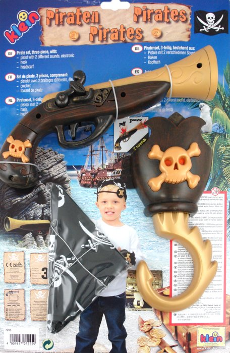 Иллюстрация 1 из 3 для Игрушка- набор пирата из 3 предметов с пистолетом (7255)   Лабиринт - игрушки. Источник: Лабиринт
