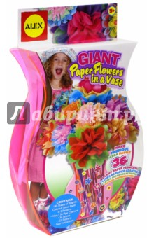 Набор для изготовления бумажных цветов в вазе (294W)