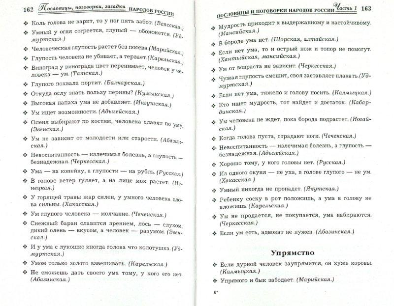 Иллюстрация 1 из 7 для Пословицы, поговорки, загадки народов России | Лабиринт - книги. Источник: Лабиринт