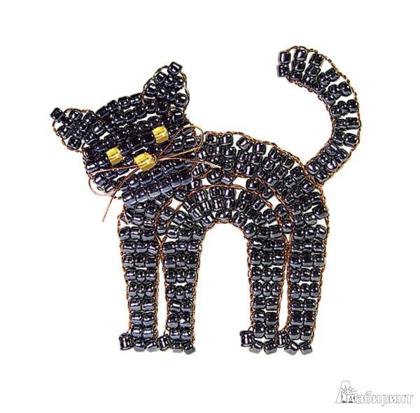 Иллюстрация 1 из 6 для Черный кот (брошь) (АА 05-551) | Лабиринт - игрушки. Источник: Лабиринт
