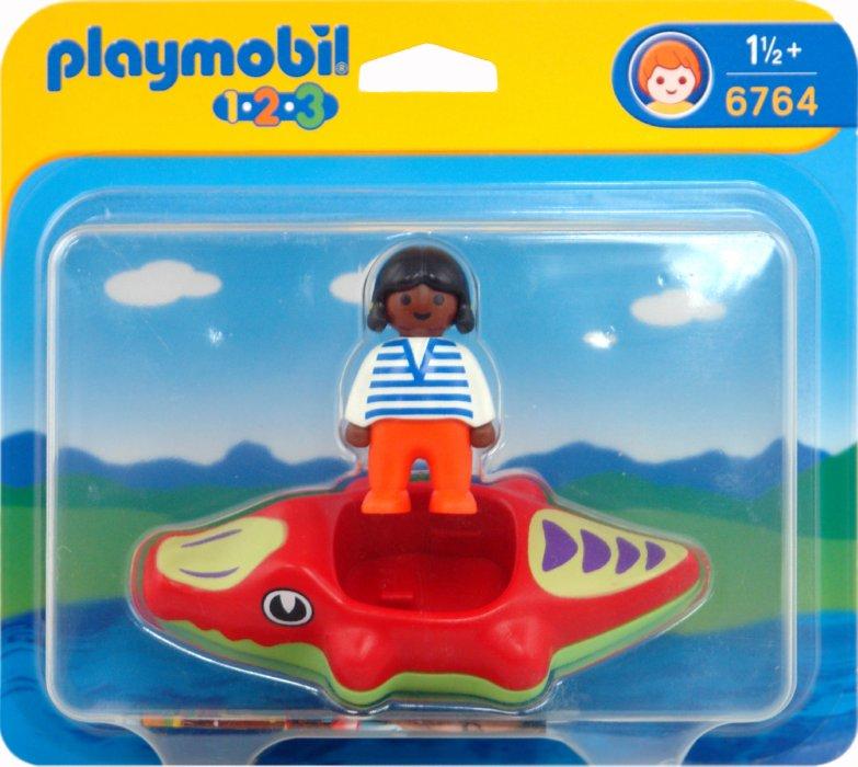 Иллюстрация 1 из 8 для Ребенок с надувным матрасом в виде Крокодила (6764) | Лабиринт - игрушки. Источник: Лабиринт
