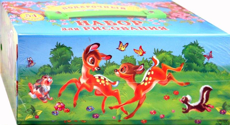 Иллюстрация 1 из 2 для Подарочный набор для рисования, 54 предмета (ПНР002)   Лабиринт - игрушки. Источник: Лабиринт