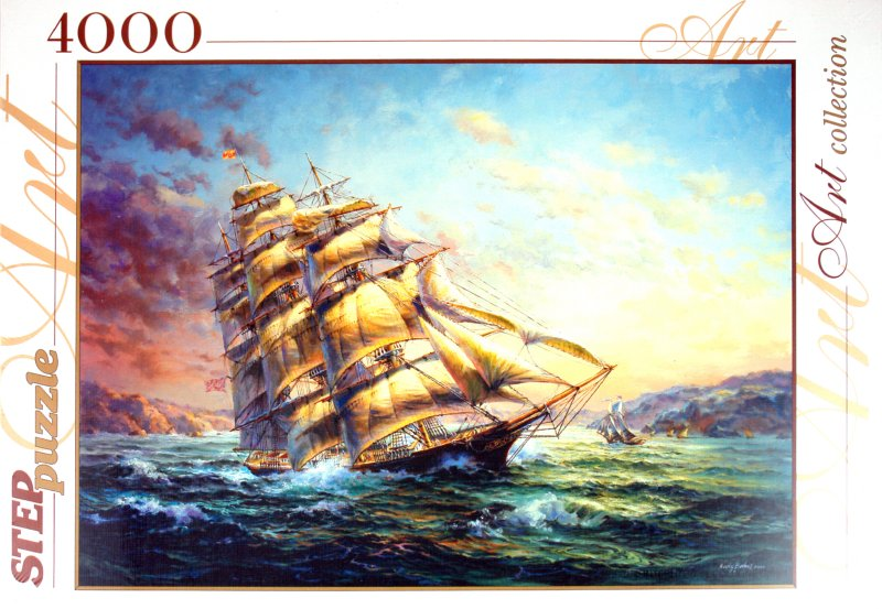 """Иллюстрация 1 из 14 для Step Puzzle-4000 """"Парусник"""" (85402)   Лабиринт - игрушки. Источник: Лабиринт"""