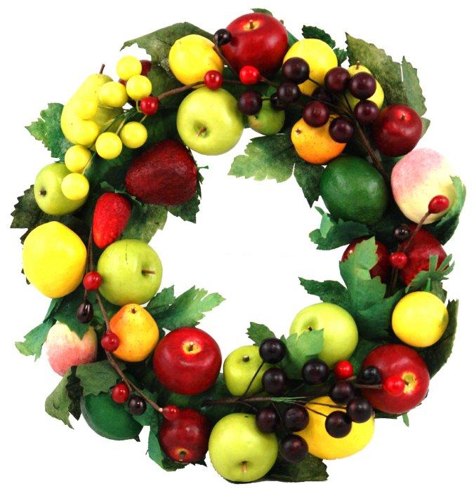 Иллюстрация 1 из 2 для Украшение декоративное: венок из фруктов (Ф21-78)   Лабиринт - сувениры. Источник: Лабиринт