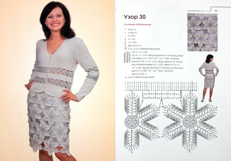 Иллюстрация 1 из 17 для Ажурные узоры для вязания крючком - Елена Ругаль | Лабиринт - книги. Источник: Лабиринт