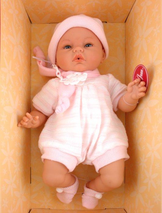 Иллюстрация 1 из 2 для Кукла-младенец Карино в розовом (5501) | Лабиринт - игрушки. Источник: Лабиринт
