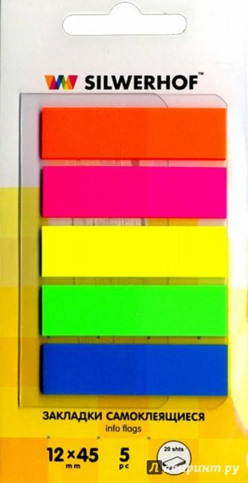 Иллюстрация 1 из 6 для Закладки самоклеящиеся (в дисплее, европодвес, 5 цветов) (801001) | Лабиринт - канцтовы. Источник: Лабиринт