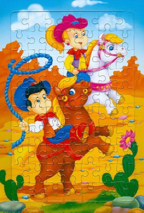 Иллюстрация 1 из 2 для Развивающие рамки. Ковбои | Лабиринт - игрушки. Источник: Лабиринт