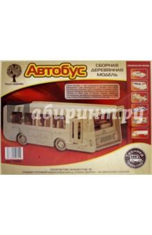 Купить Автобус (P092), ВГА, Сборные 3D модели из дерева неокрашенные мини
