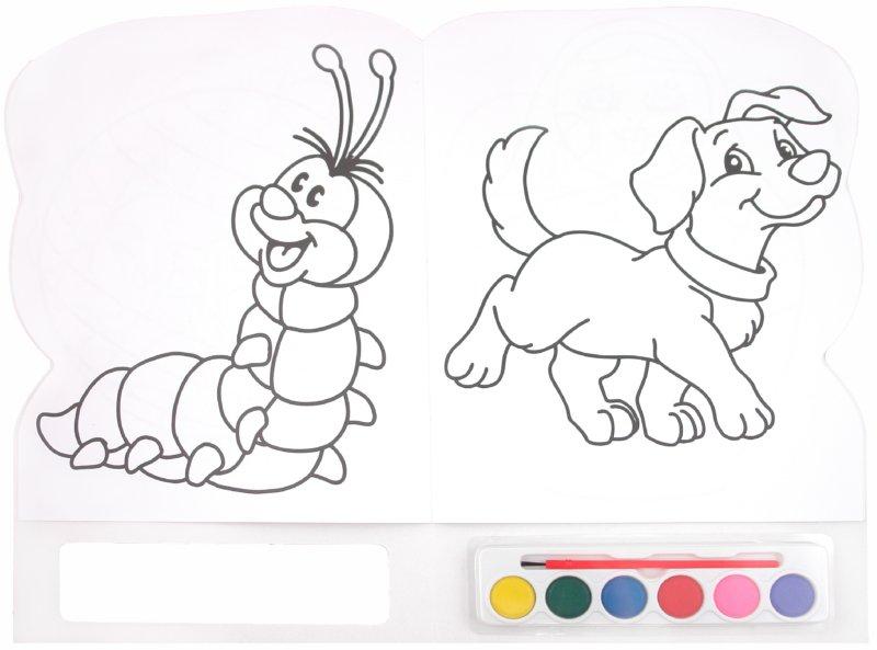 Иллюстрация 1 из 13 для Краски и раскраски. Котенок   Лабиринт - книги. Источник: Лабиринт