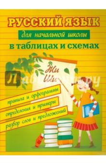 Русский язык для начальной школы в таблицах и схемах: правила и орфограммы, определения и примеры