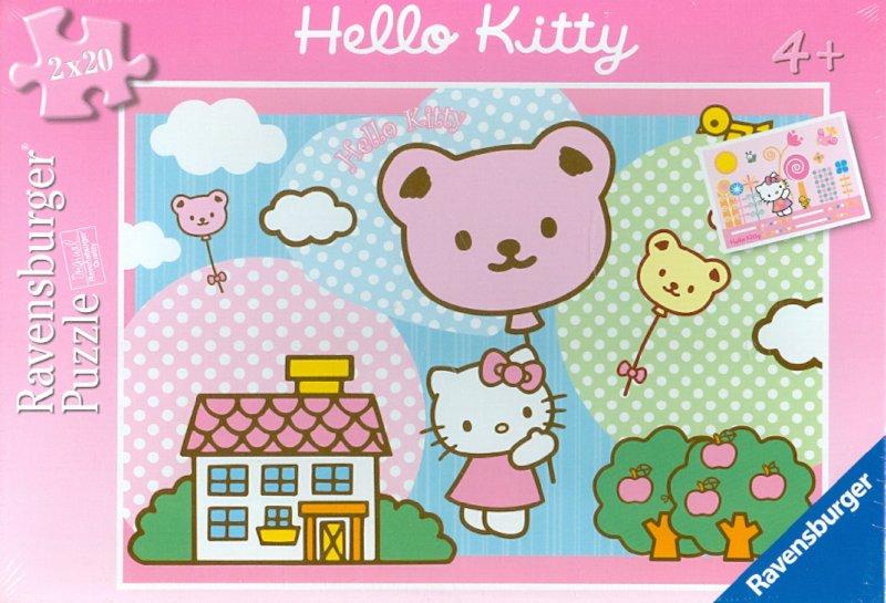 """Иллюстрация 1 из 2 для Паззл """"Hello Kitty. Полет"""", 2х20 элементов (091676)   Лабиринт - игрушки. Источник: Лабиринт"""