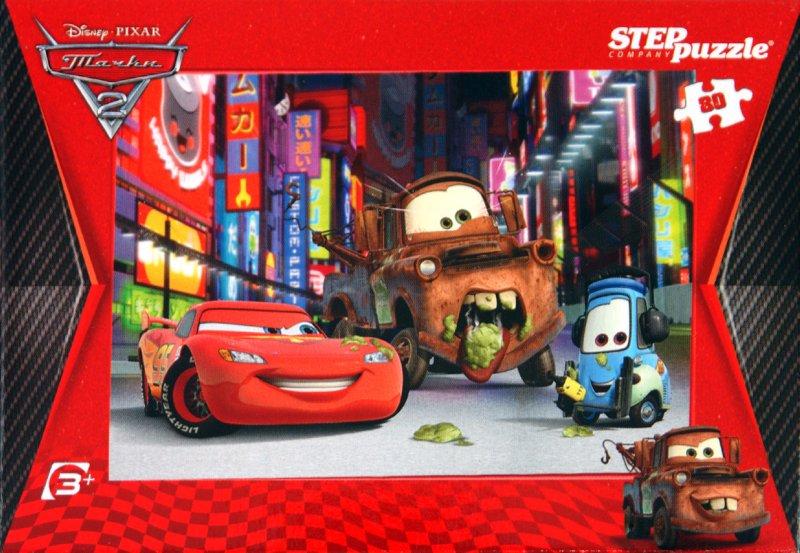 """Иллюстрация 1 из 3 для Step Puzzle-80 """"Дисней. Тачки-2"""" (77103)   Лабиринт - игрушки. Источник: Лабиринт"""