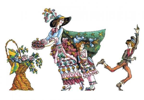 Иллюстрация 1 из 37 для Три Толстяка. Иллюстрации М. Бычкова. В открытках - Юрий Олеша   Лабиринт - книги. Источник: Лабиринт