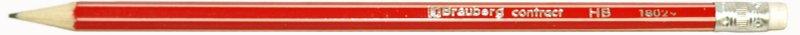 Иллюстрация 1 из 2 для Карандаш чернографитный Contract с ластиком, красный корпус (180291) | Лабиринт - канцтовы. Источник: Лабиринт